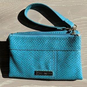 Steve Madden wallet wristlet Teal Blue